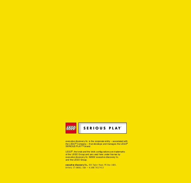executive discovery llc. is the corporate entity – associated with the LEGO® Company – that develops and manages the LEGO®...