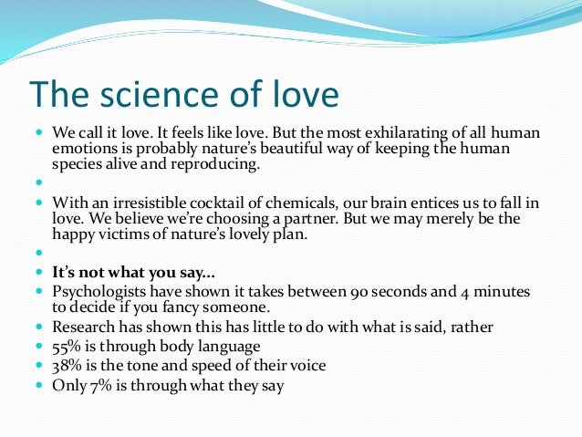 the science of love Love definition is - strong affection for another arising out of kinship or personal ties how to use love in a sentence  christian science: god.