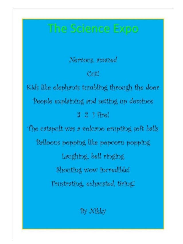 Science Expo Poems