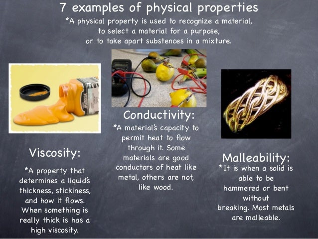 Science powerpoint What Are Some Examples Of Physical Properties