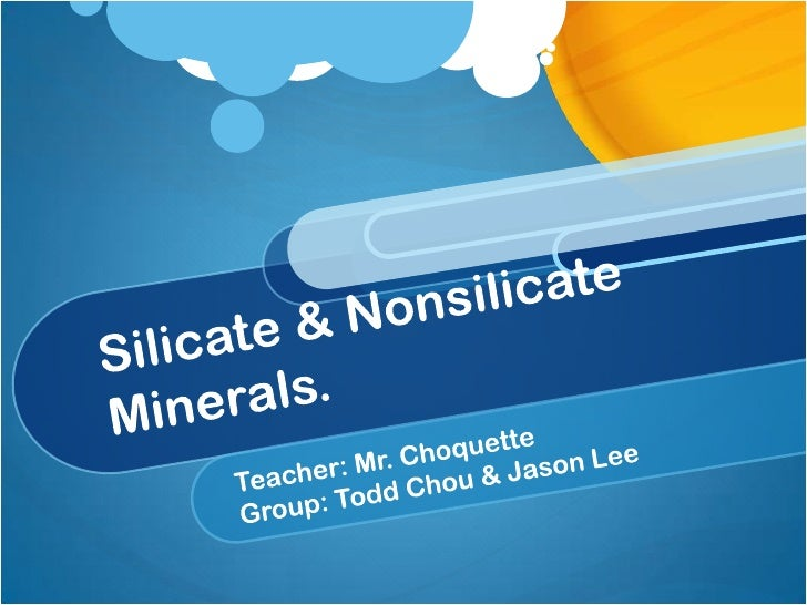 The two groups ofminerals .•   The most common    classification of minerals    is based on chemical    composition.•   Mi...