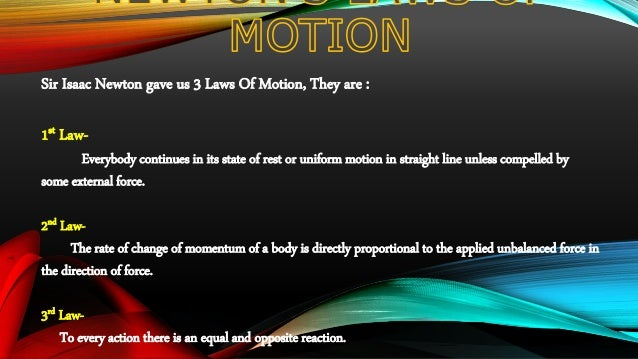 Science ppt on Newton's 2nd Law Slide 2