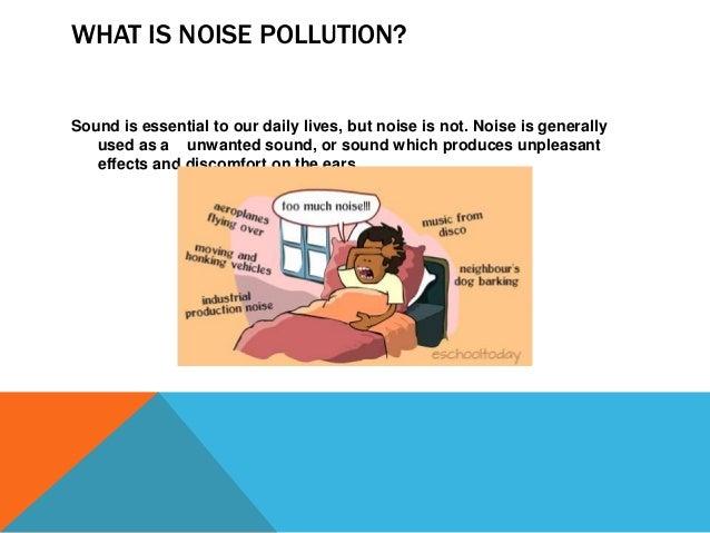 Noise pollution--Festivals