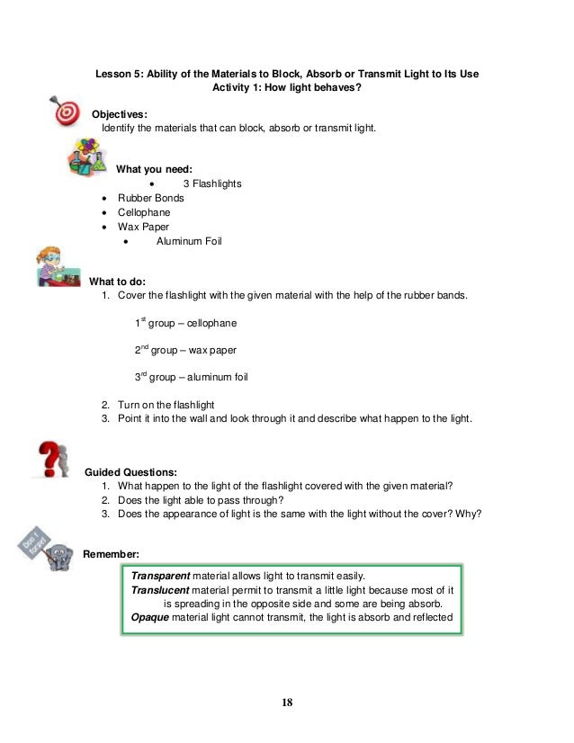 K To 12 Grade 5 Learners Material In Science Q1 Q4