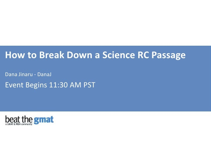 How to Break Down a Science RC Passage on the GMAT