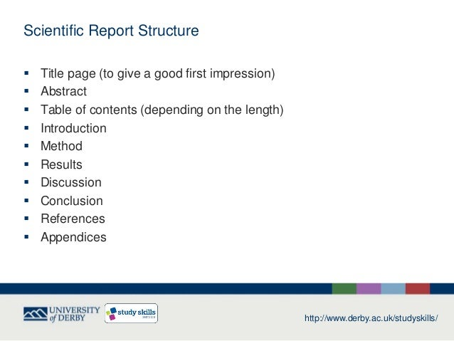 Science report writing – Scientific Report