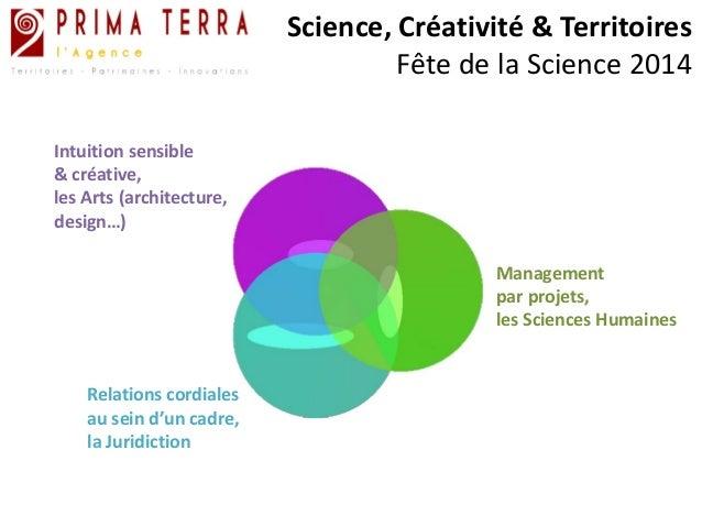 Science, Créativité & Territoires  Fête de la Science 2014  Management  par projets,  les Sciences Humaines  Intuition sen...