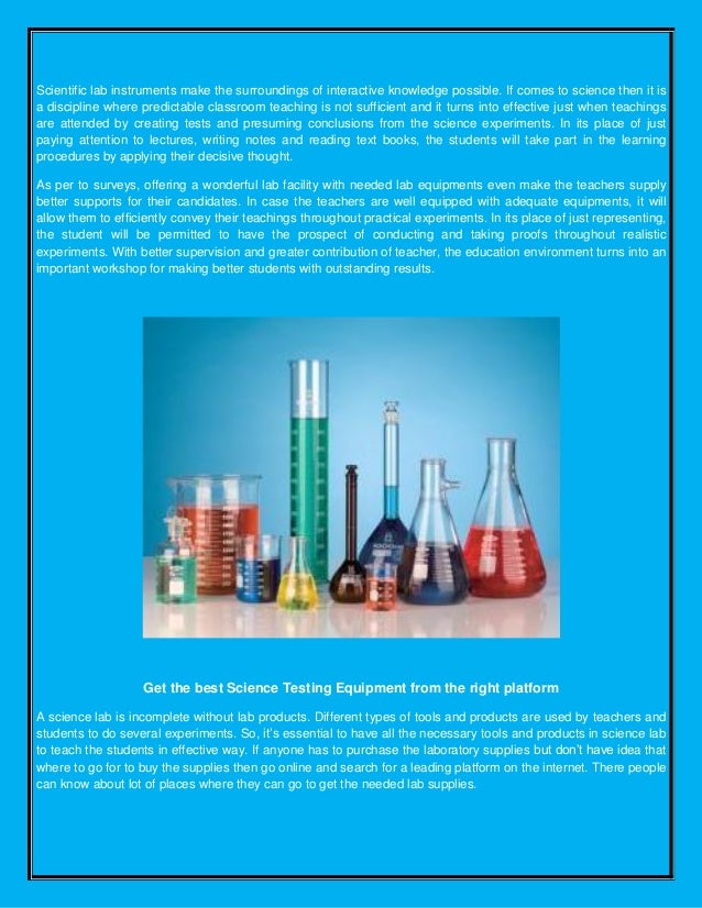 Science testing equipment avogadro's lab supply