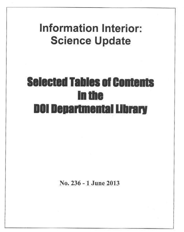 Science Update - No 236 - Jun 2013