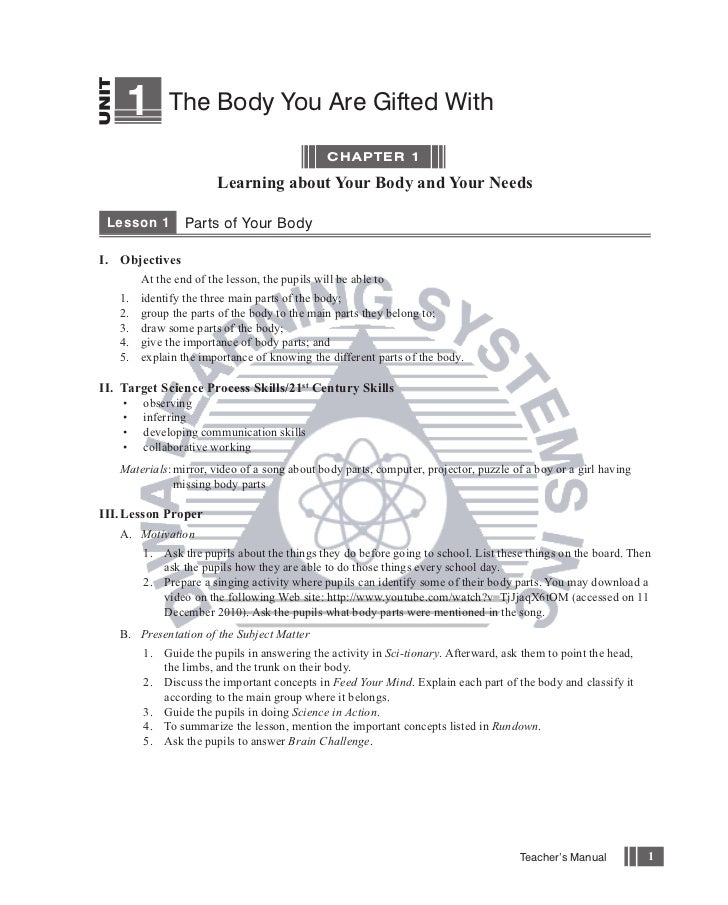 Science Works Grade 1 Teachers Manual