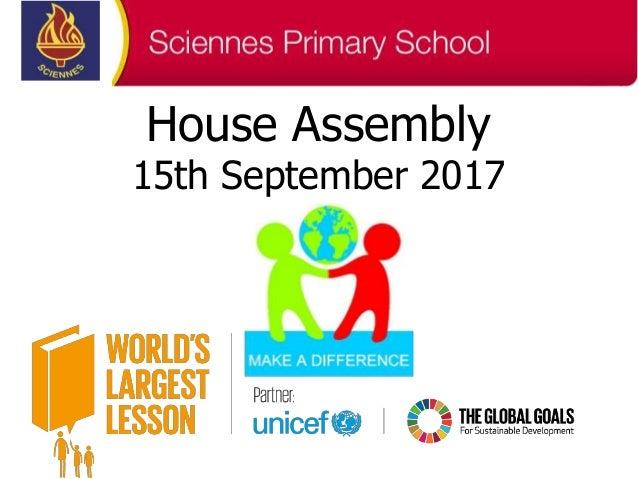 House Assembly 15th September 2017