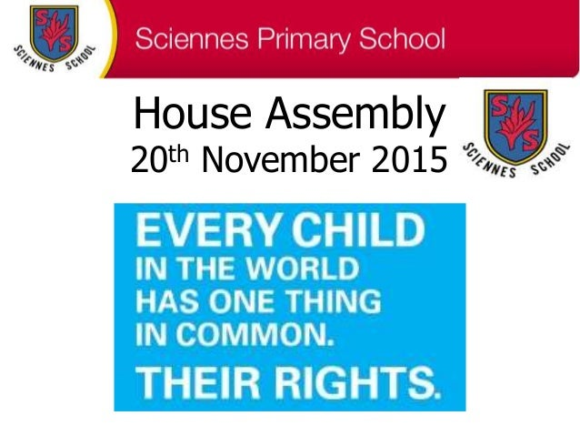 House Assembly 20th November 2015