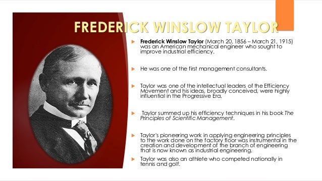 frederick winslow taylor contribution