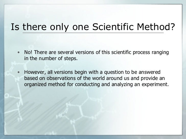 Homework help the scientific method
