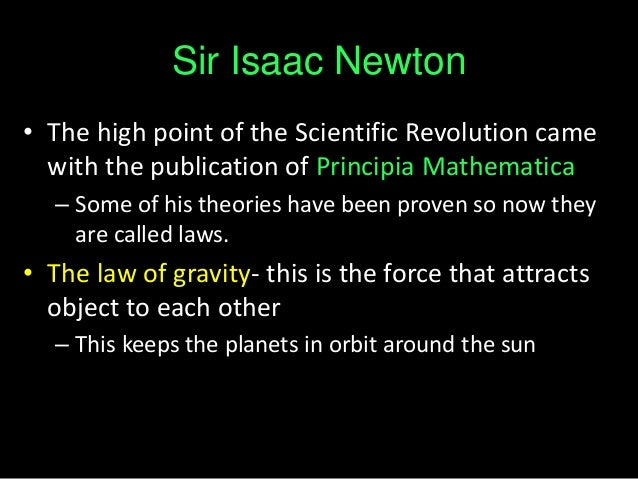Scientific Revolution and the Scientists