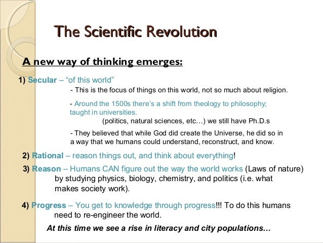 The influence of the scientific revolution on philosophy and religion essay