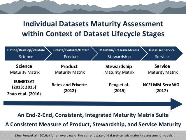 Create/Evaluate/Obtain Product Maintain/Preserve/Access Stewardship Use/User Service Service Define/Develop/Validate Scien...