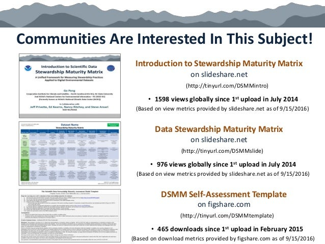Communities Are Interested In This Subject! Introduction to Stewardship Maturity Matrix on slideshare.net (http://tinyurl....