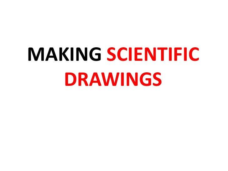 MAKING SCIENTIFIC   DRAWINGS