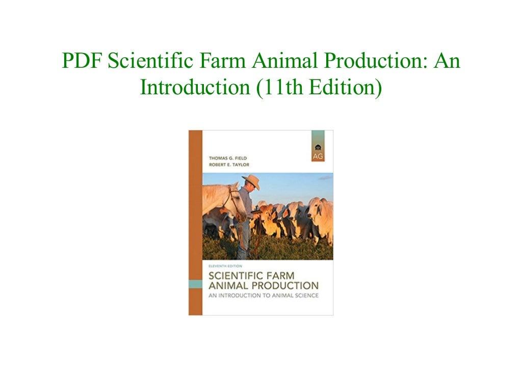 scientific farm animal production 11th edition pdf free download