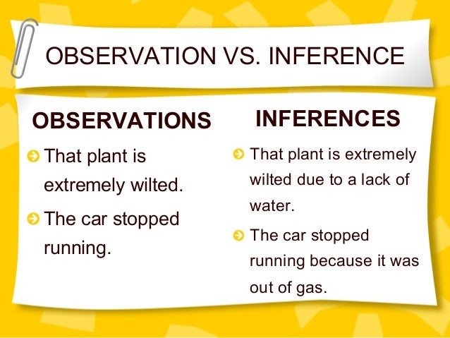 Scientific inquiry observation vs inference – Observations and Inferences Worksheet
