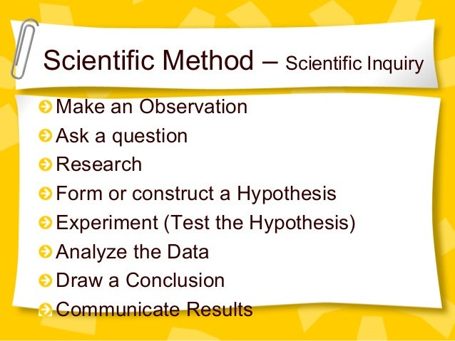 Scientific inquiry, ob...