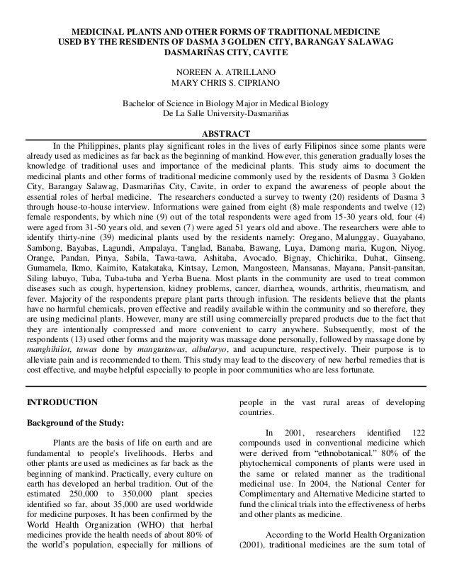 Essay on medicinal plants