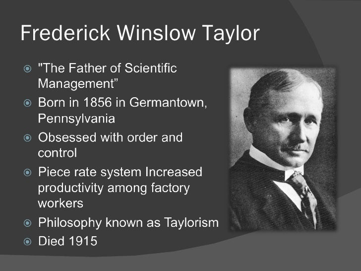 Frederick W. Taylor: Master of Scientific Management