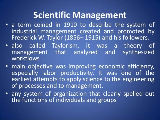 Scientific management f. W. Taylor principles & elements youtube.