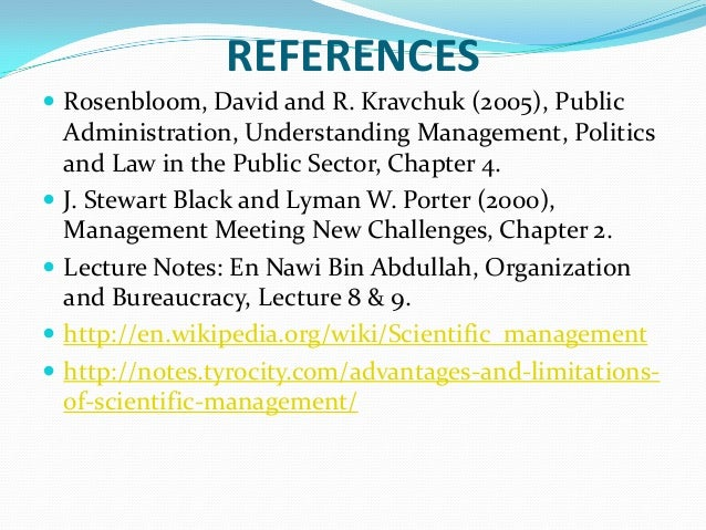 what are the advantages and disadvantages of f w taylor s scientific management theory Frederick w taylor: the principles of scientific management, 1911 frederick w taylor was a mechanical engineer whose writings on efficiency and scientific.