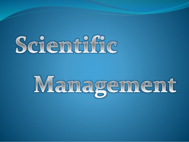 Scientific Management - Also called Taylorism, is a theory of management that analyzes and symphathesizes workflows. - See...