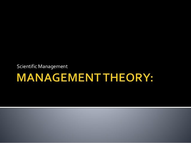 scientific management theory