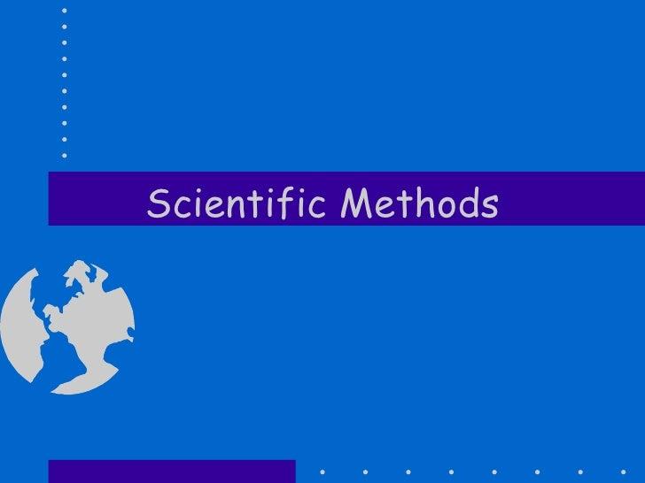Scientific Methods
