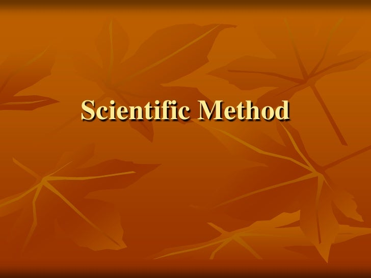 Scientific Method<br />