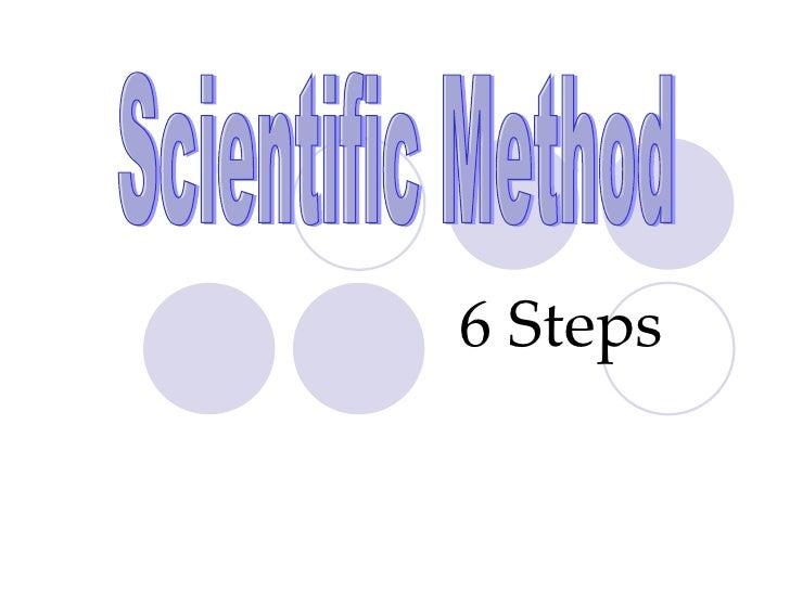 6 Steps Scientific Method