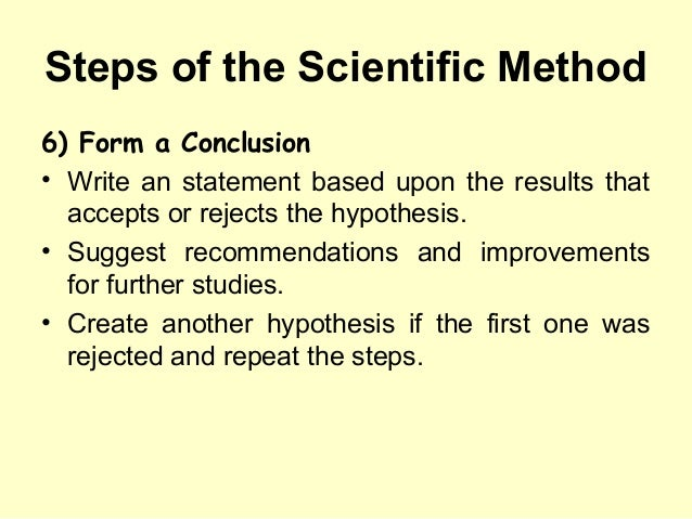 how to write a method in science