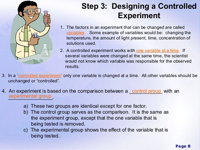 Scientific method power point for How to plan and design an experiment