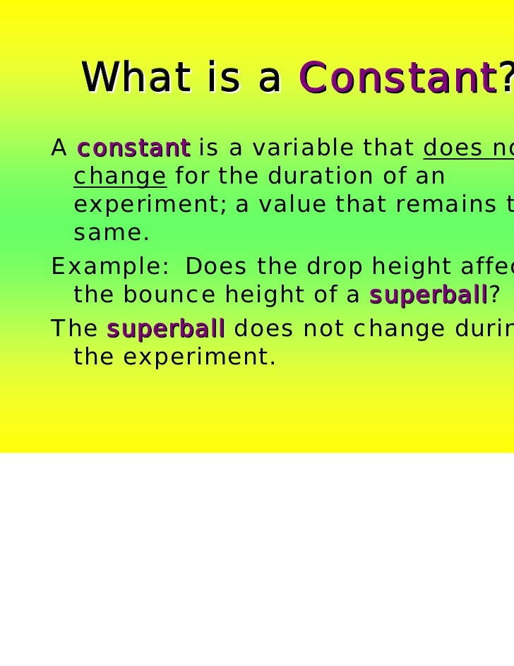 what is an example of a constant variable