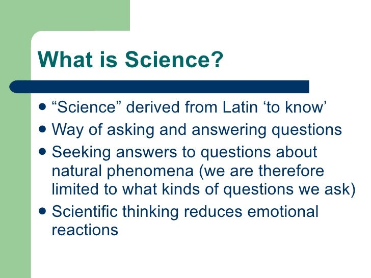 what is science ppt - Parfu kaptanband co