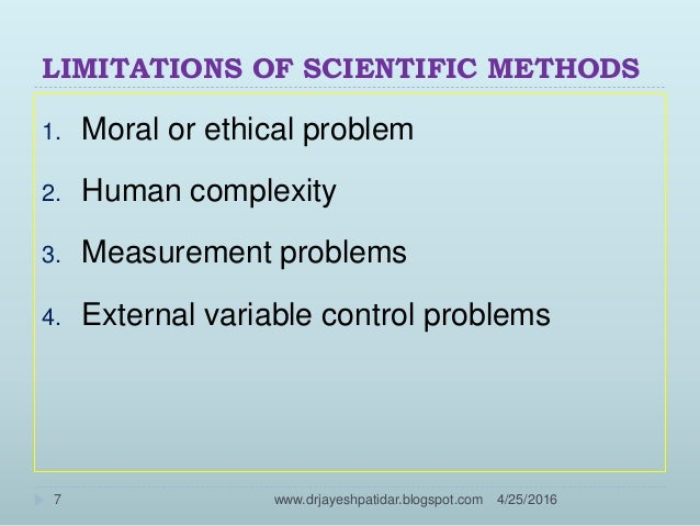 A study of scientific method of research