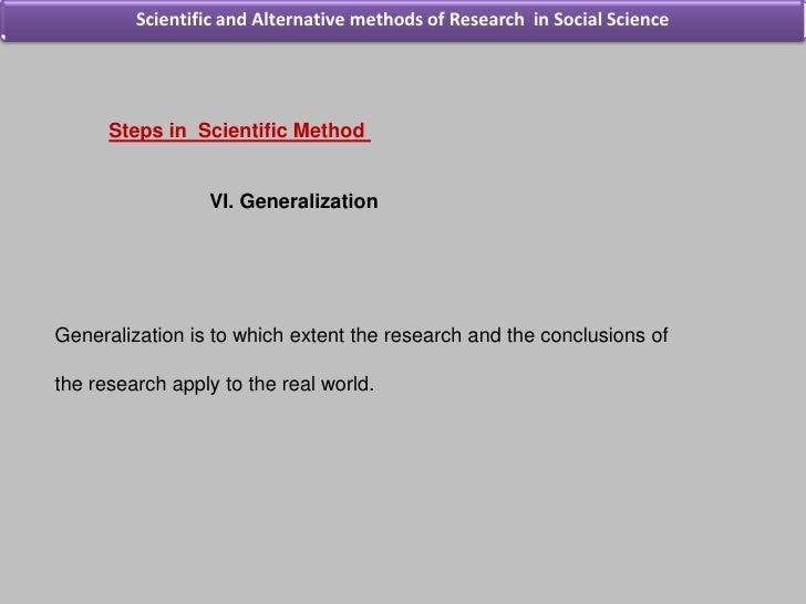 Scientific Methods of Research in Economics