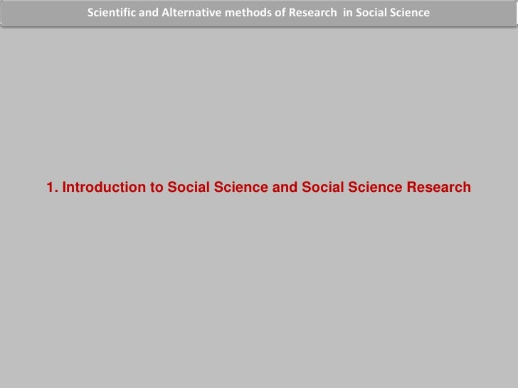 Scientific Programme