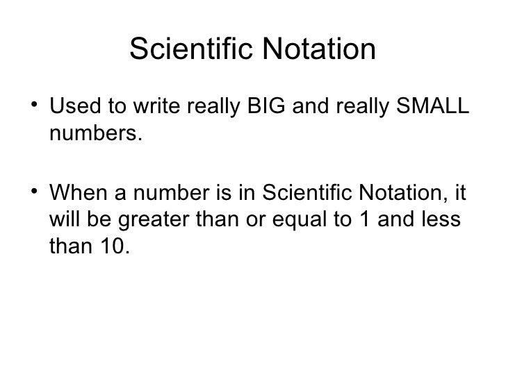 how to write a decimal in scientific notation