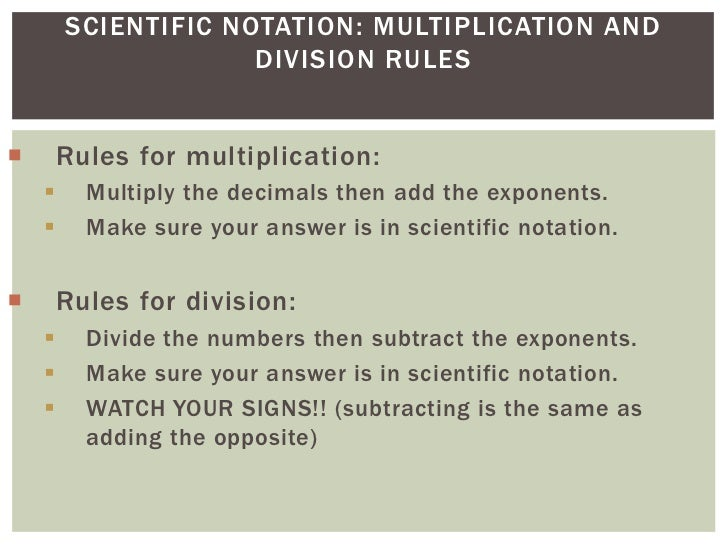 Scientific Notation -- Multiplication and Division - YouTube