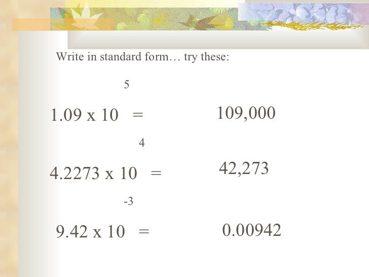 Scientific Notation Powerpoint