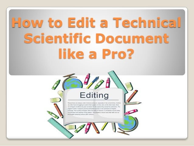how to edit a paper