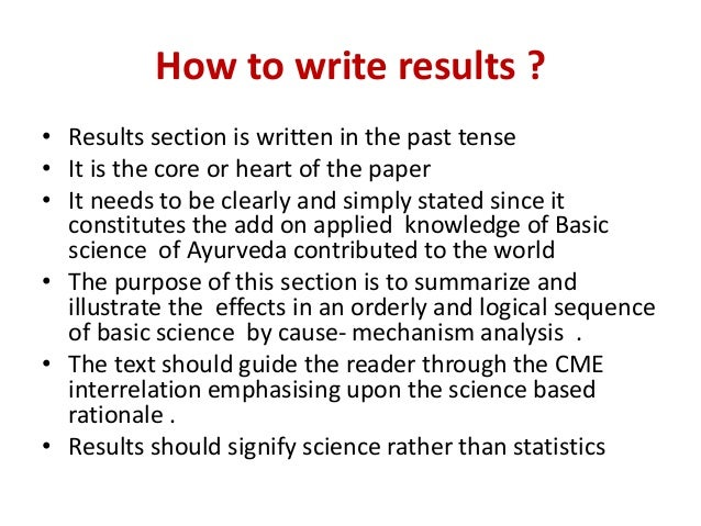 how to write the scientific paper