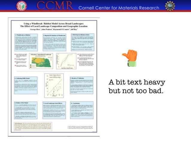scientific poster acknowledgement wording