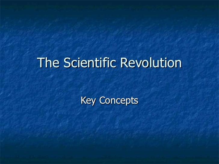 The Scientific Revolution Key Concepts