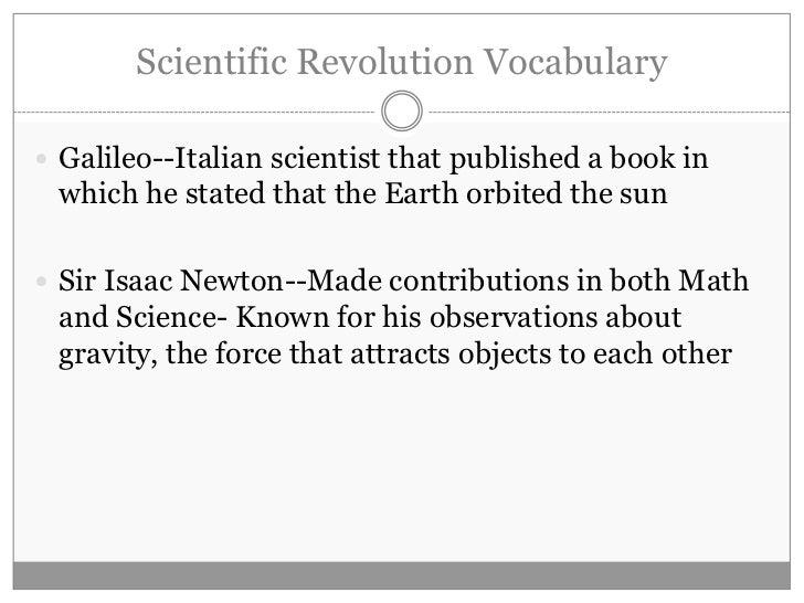 Scientific Revolution ...